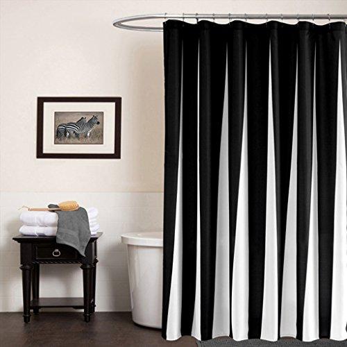 Holen Sie sich wunderschön gestaltete schwarze Duschvorhang für .