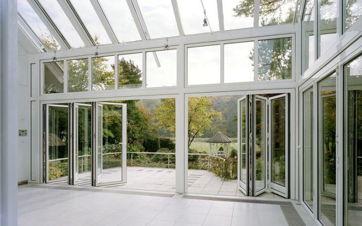 Bi Falttüren Aluminium | Glasschiebetür, Faltschiebetüren und .