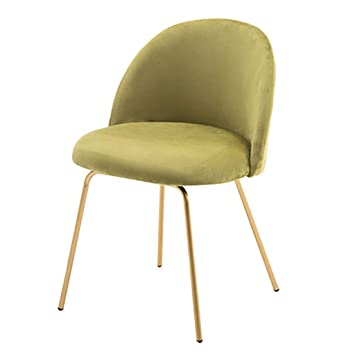 Amazon.de: Soft Velvet Sessel Gepolsterter gelegentlicher Stuhl .