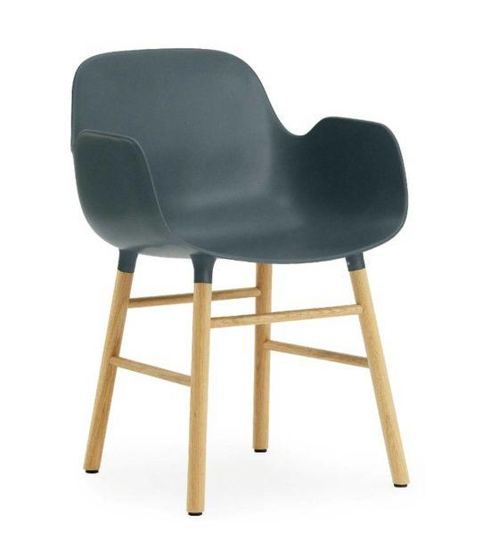Normann Copenhagen Blauer Kunststoff Stuhl mit Armlehne Formular .