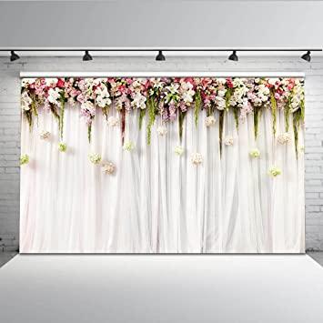 Mehofoto Blumenvorhang Bridal Shower Hintergrund 7x5ft: Amazon.de .