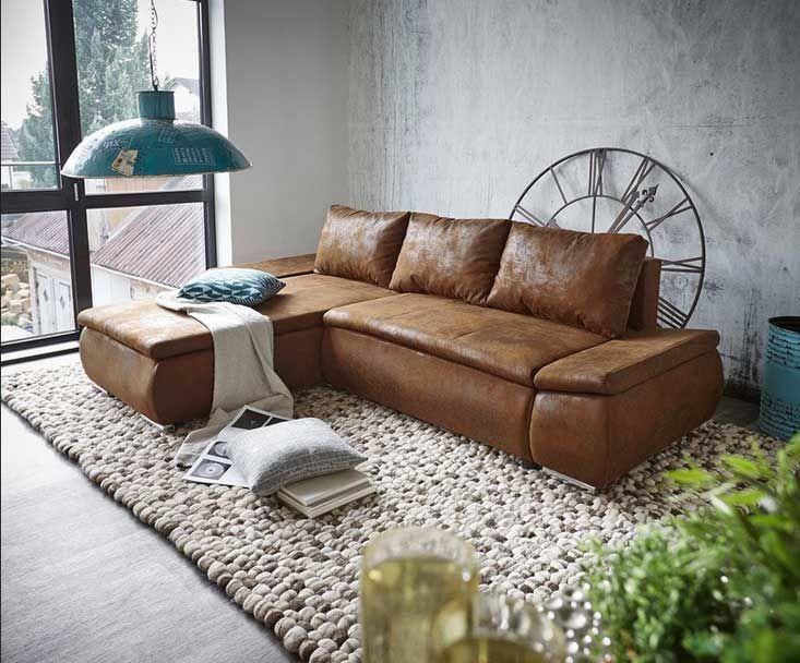 Ecksofa braun mit schlaffunktion Klassische Möbel zu wohnzimmer .