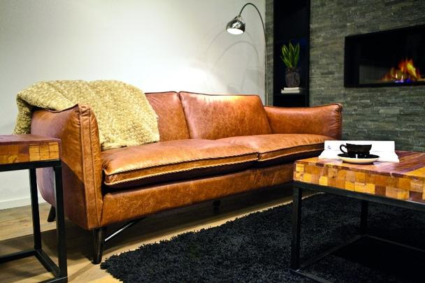Sofa echtes Leder braun - Ecksofa Massivholz bei Möbelhaus Hambu