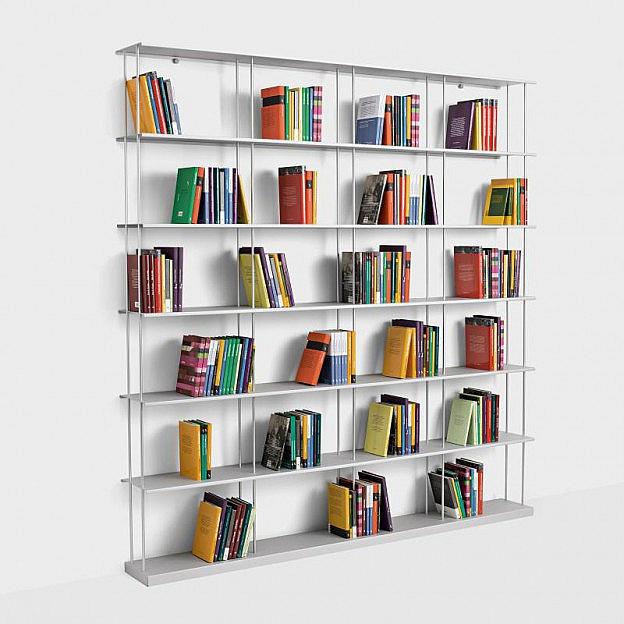 Bücherregal Alu 200 x 203 cm - Biber.c