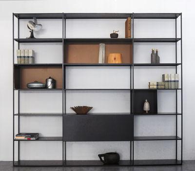 Bücherregal Easy Irony von Zeus - Braun/Schwarz/Kupfer | Made In .