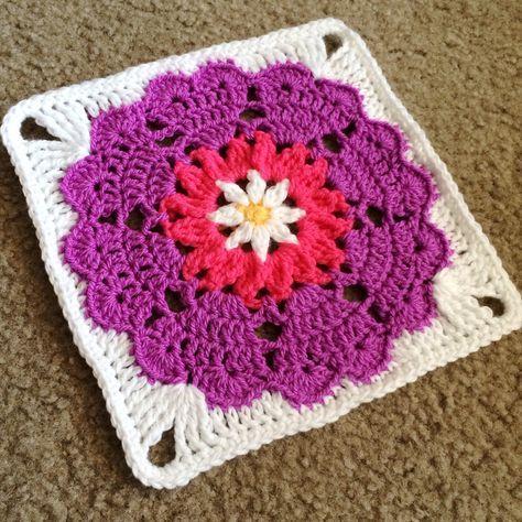 Heart Mandala: Octagon to Square | Granny square häkelanleitung .