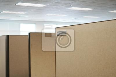 Bürokabine und namensschild im büroraum fototapete • fototapeten .