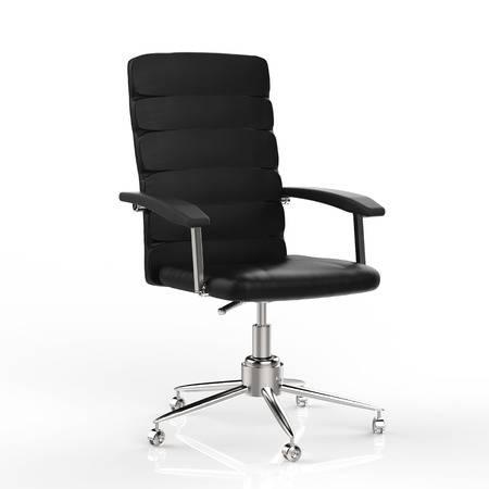 Bürostuhl aus weißem Leder