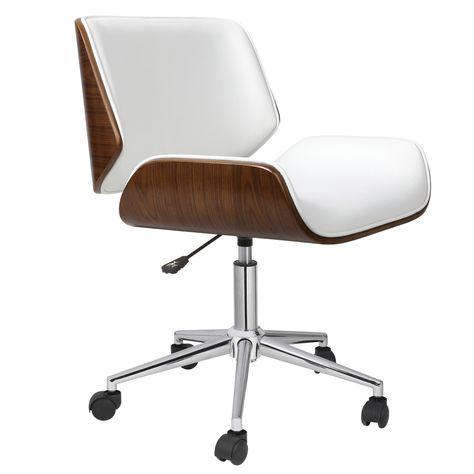 weiße Leder Bürostuhl am besten ein home office Möbel In einem .