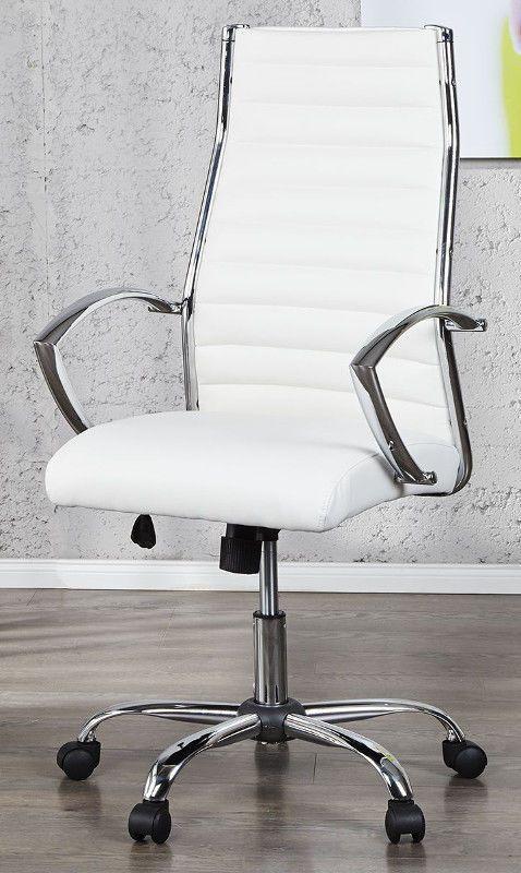 Bürostuhl Bürosessel OFFICE Kunstleder weiss Drehsessel Design .
