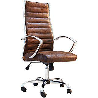 Design Bürostuhl Chefsessel BIG DEAL antik coffee Stuhl Büro .