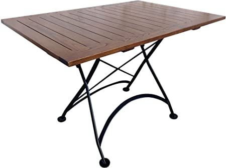 Amazon.com: Mobel Designhaus French Café Bistro Folding Table, Jet .
