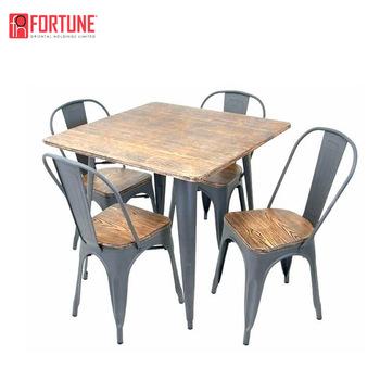 Cafe Restaurant Conjiont Tische Und Stühle In Edelstahl Für .