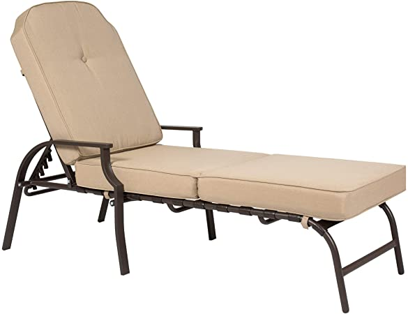 Amazon.com : Best Choice Products Adjustable Outdoor Chaise Lounge .