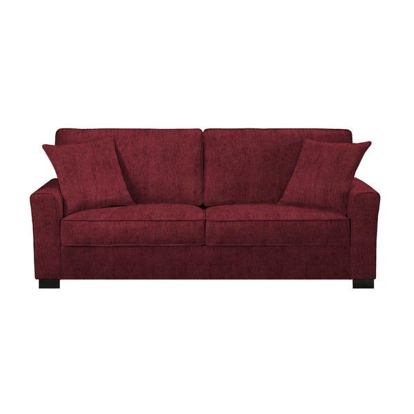 Shop Handy Living Karsten SoFast Berry Red Chenille Sofa .
