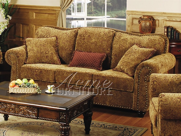 Glory Sofa in Chenille Finish by Acme - 58