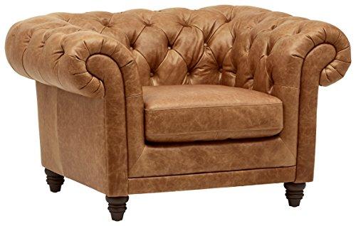 Amazon.com: Stone & Beam Bradbury Chesterfield Tufted Leather .