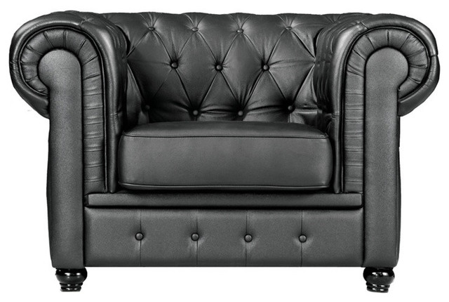 Modern Leather Chesterfield Chair - Traditional - Armchairs And .