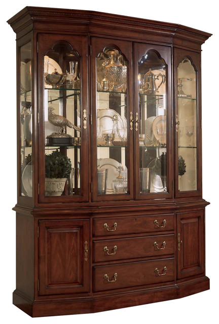 American Drew Cherry Grove Canted China Cabinet - Traditional .