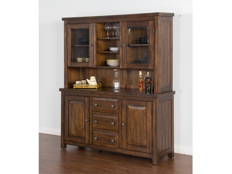 Sunny Designs Dining Room China Hutch And Buffet Tuscany 793482P .