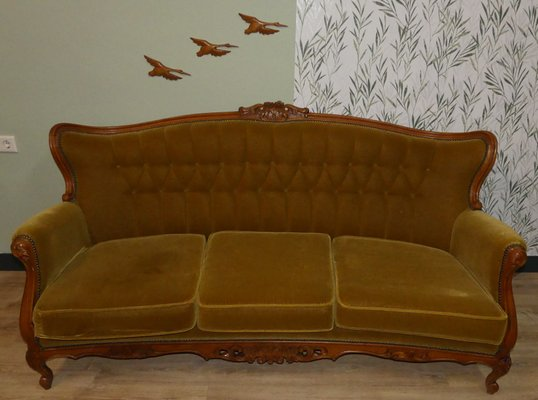 Mid-Century Chippendale Style 3-Seater Sofa, 1960s for sale at Pamo