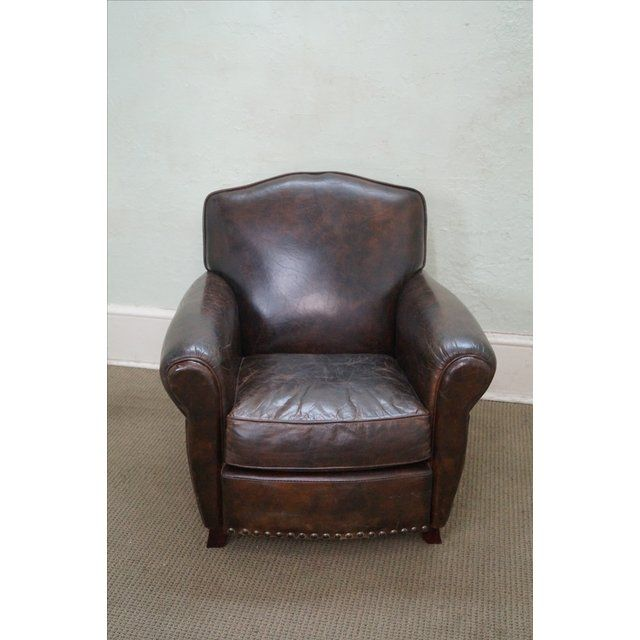Distressed Leather Club Chair | Stühle, Clubsessel und Sess