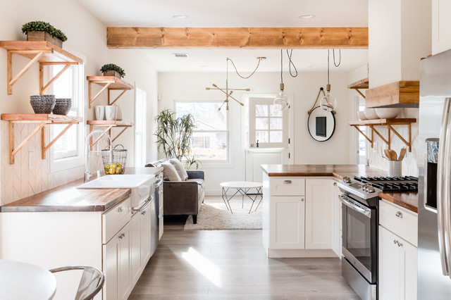 Elmhurst Cottage - Landhausstil - Küche - Sacramento - von Novoya .