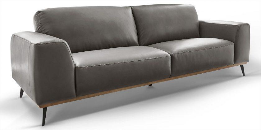 Designer 3-Sitzer Leder Sofa Barcelona Skandi-Design | Moebella