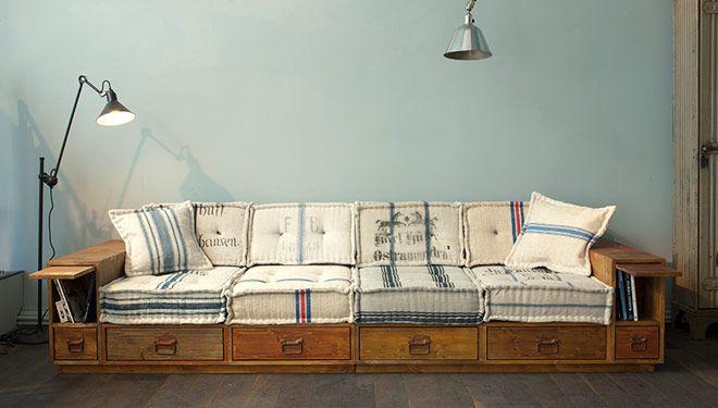 Couch-Betten; für wenn raum ein problem ist | Diy sofa, Sofa .