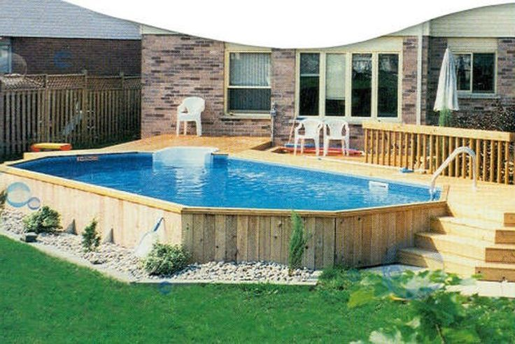 Oval Pool Deck Ideas | Above Ground Pools Decks Idea | Beautiful .
