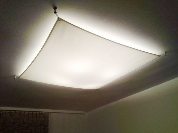Lichtsegel LED E27 Deckenleuchte quadratisch   Lichtsegel .
