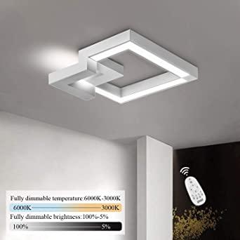 ZMH LED Deckenleuchte Wohnzimmer Modern Dimmbar Fernbedienung .