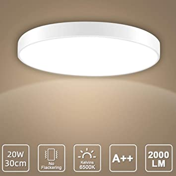 LED Deckenleuchte, LED Deckenlampe, Kaltweiß Warmweiß Rund Modern .