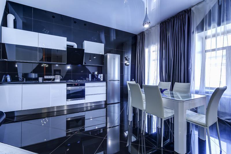 SutkiPeterburg Luxury apartment with designer interiors and sauna .