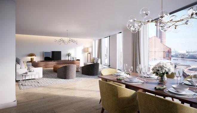Luxury property developments with designer interio