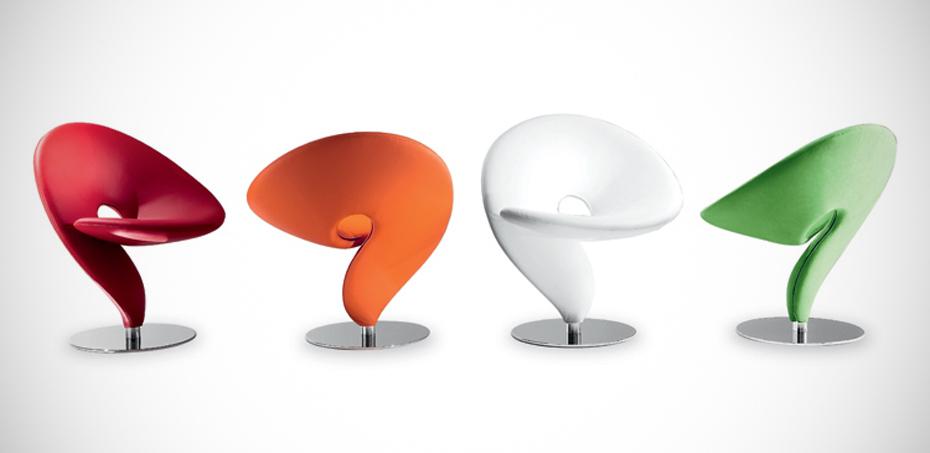Design-Stuhl Question Mark von Tonon, Designer Stefan Heilig