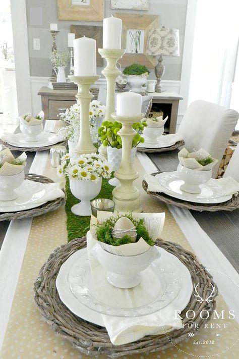 Die schönsten Ostertischdeko DIY Dekoideen für euer Esszimmer .
