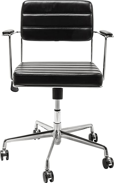 Kare Design Bürodrehstuhl Dottore, schwarz, drehbarer Bürostuhl .