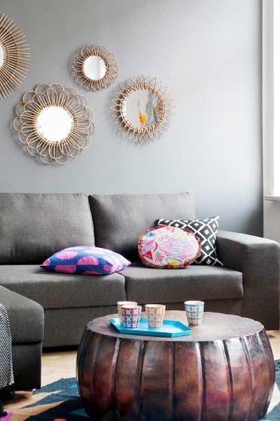 Power Ethno« | Ikat-Teppiche in kräftigen Farben, Kissen mit .