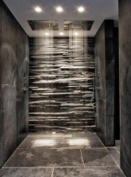 Dusche mit Naturstein! | Contemporary house, Modern house design .