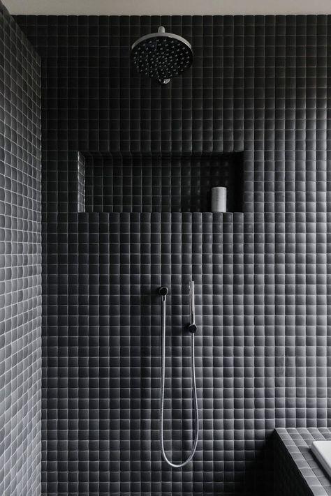COCOON moderne Duschraum Design Inspiration bycocoon.com | dunkel .