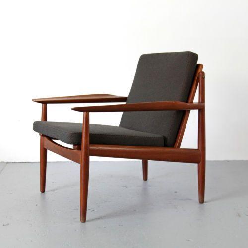 Easy Chair by Arne Vodder for Glostrup Denmark Danish Modern Teak .