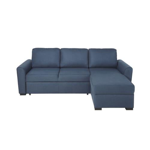 3/4-Sitzer-Eckschlafsofa nachtblau Montréal   Maisons du Mon