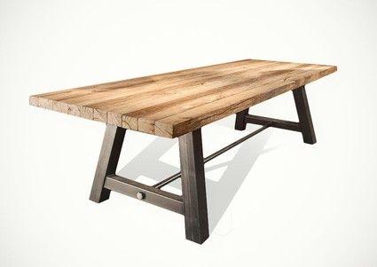 Eiche Esstisch Hannibal nach Maß | Oak dining table, Industrial .