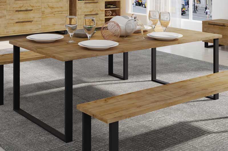 Barock Stil Tisch Eiche Massiv Tisch Abmessungen:220 x 105 cm Casa .