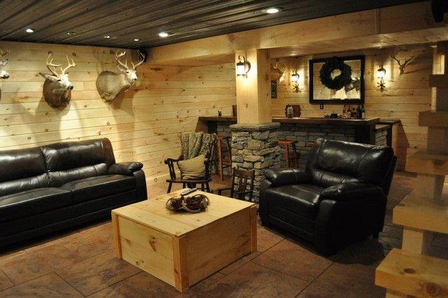 15 Herausragende rustikale Keller-Designs | Rustic basement .