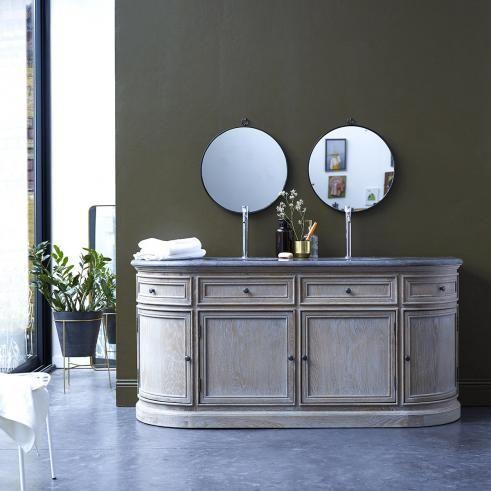 Waschtisch aus Eiche mit Keramikwaschbecken 180 Louise | Decor .