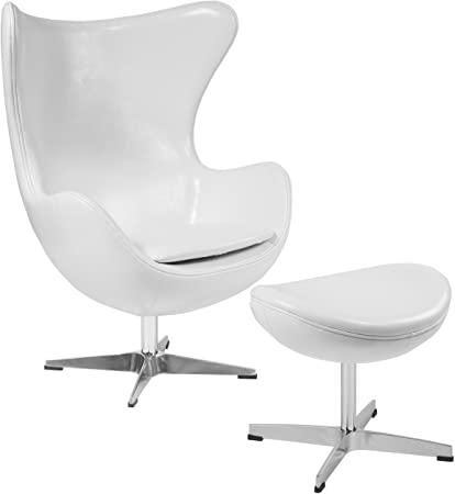Flash Furniture Eierstuhl Melrose Leder mit Kippverschluss und .