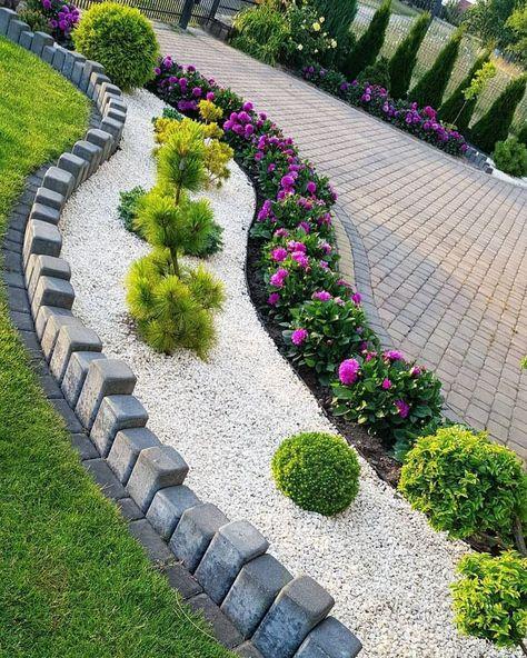 Einfache und einfache Landschaftsgestaltung Ideen für schöne .