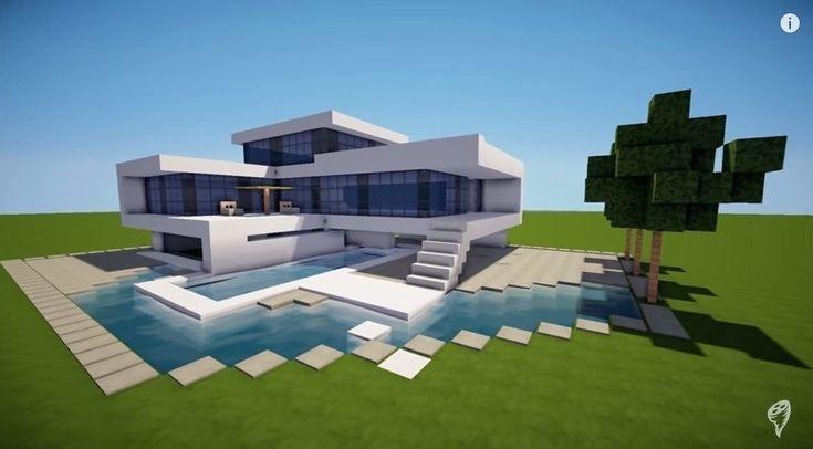 Minecraft einfaches modernes Haus-Design - #Einfaches .
